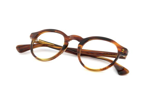 Caramel Alex Frames with Green Clip-ons