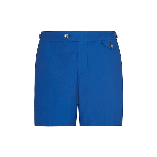 Blue Twill Clipper Swim Shorts