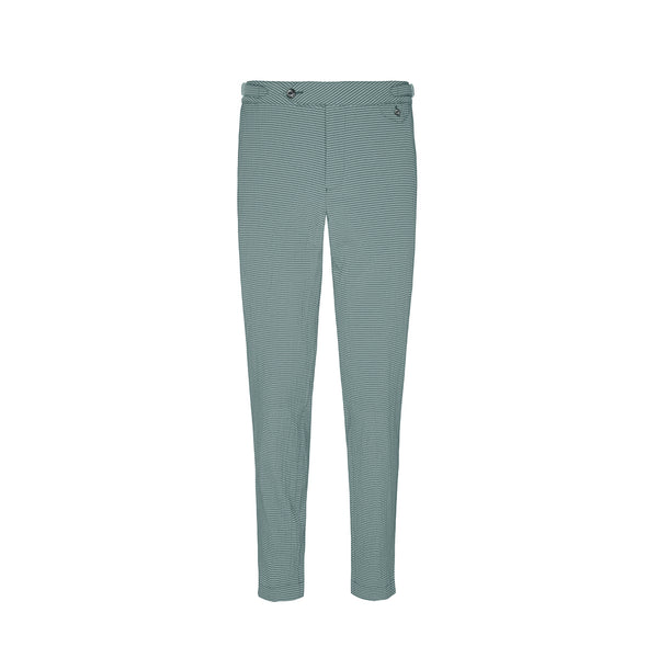 Dark Green Seersucker Stripe Cruiser Trousers