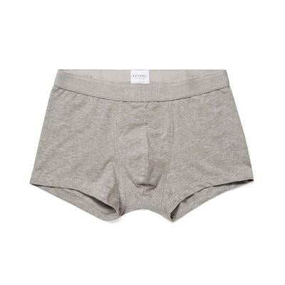 Grey Melange Stretch Cotton Low Waist Trunk