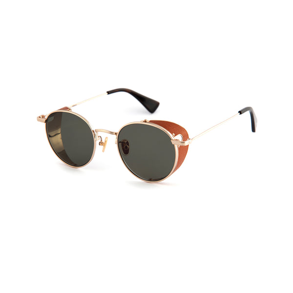 C&P x Motoluxe Gold Side Shield Sunglasses
