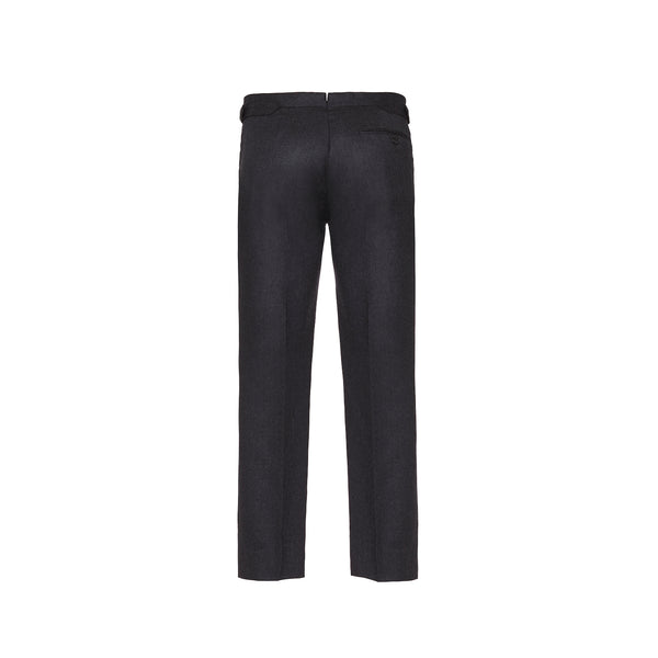 Charcoal Slim Fit Flannel Trousers