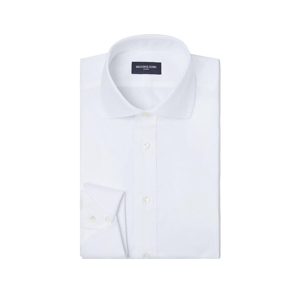 White Cocktail Cuff Shirt