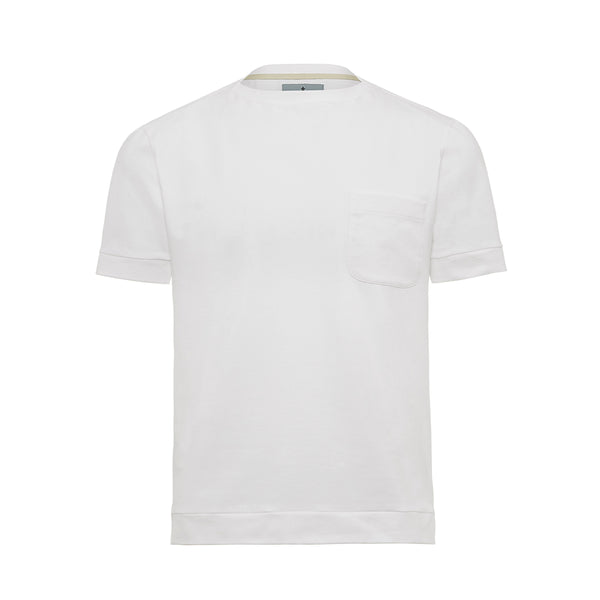 White Boat Neck Cutter T-Shirt