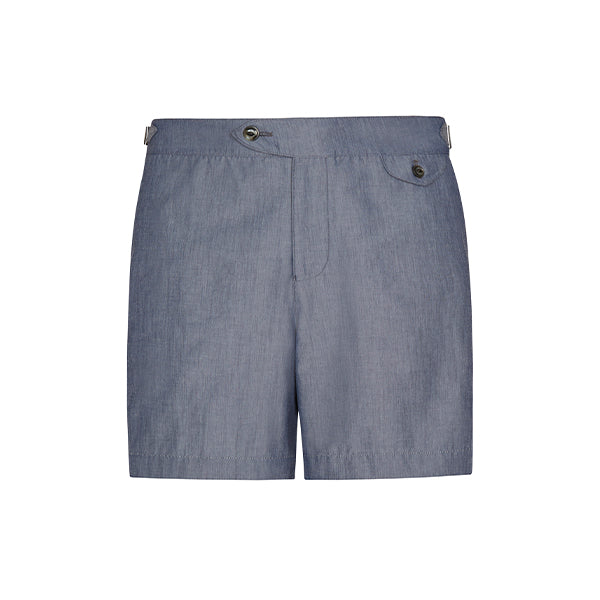 Indigo Chambray Clipper Swim Short