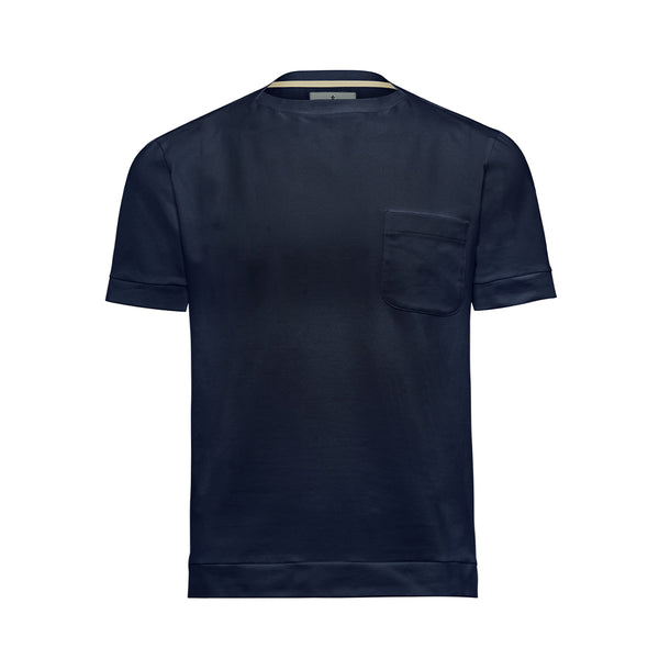 Navy Boat Neck Cutter T-Shirt