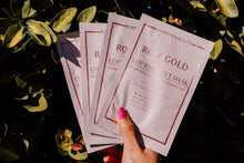 Load image into Gallery viewer, Rose Gold Cotton Sheet Mask-4 Pack ($36 Value)