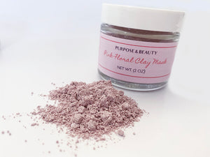 Pink Floral Clay Mask- NEW!
