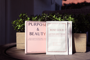 Rose Gold Cotton Sheet Mask-4 Pack ($36 Value)