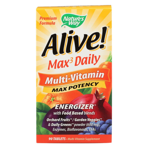 Nature's Way - Alive! Max3 Daily Multi-vitamin - Max Potency - 90 Tablets