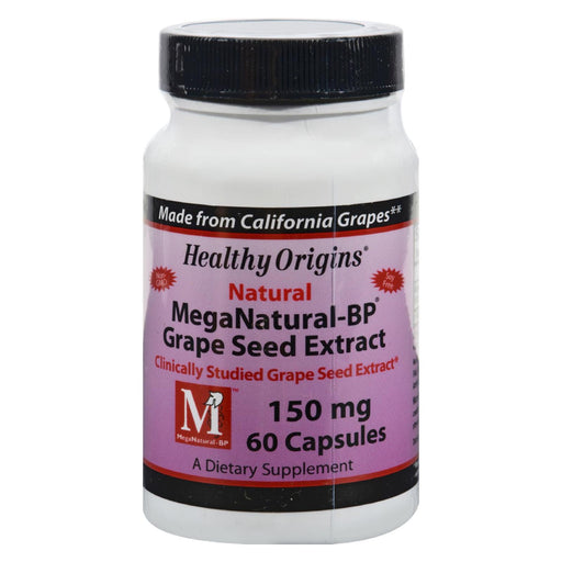 Healthy Origins Mega Natural-bp Grape Seed Extract - 150 Mg - 60 Capsules