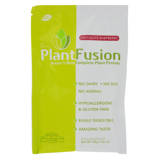 Plantfusion - Complete Protein - Chocolate Raspberry - Case Of 12 - 30 Grams