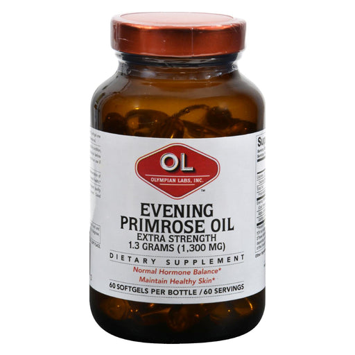Olympian Labs Evening Primrose Oil - Extra Strength - 1300 Mg - 60 Softgels