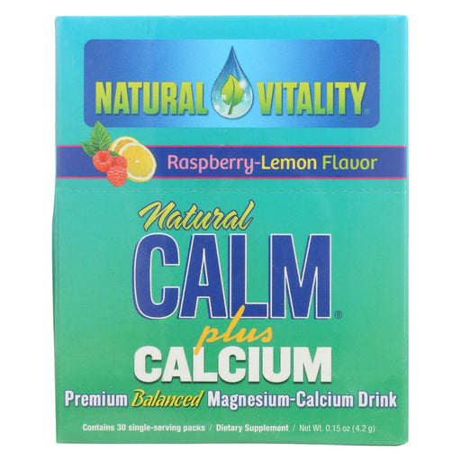 Natural Vitality Natural Calm Plus Calcium Raspberry Lemon - 30 Packets