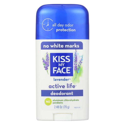 Kiss My Face Active Life Deodorant Lavender - 2.48 Oz