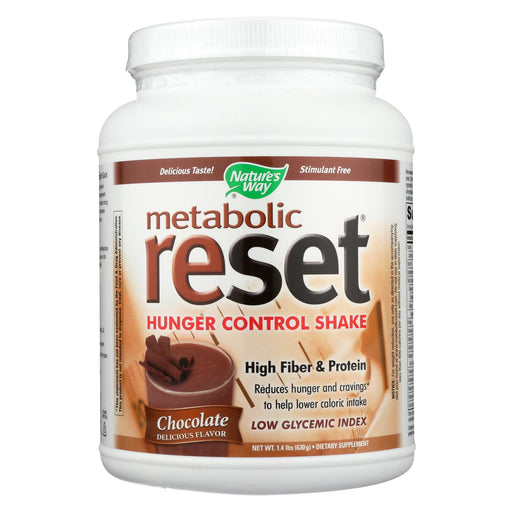Nature's Way - Metabolic Reset Shake Mix Chocolate - 1.4 Lbs