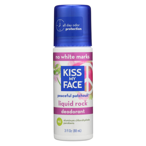 Kiss My Face Deodorant Liquid Rock Roll On Peaceful Patchouli - 3 Fl Oz