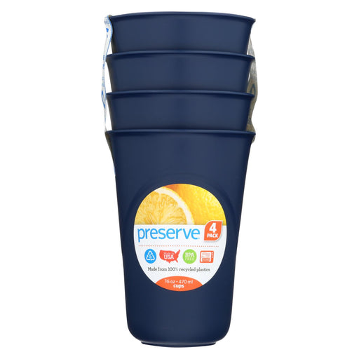 Preserve Everyday Cups - Midnight Blue - 4 Pack