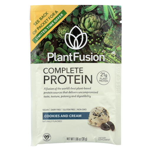 Plantfusion - Complete Protein - Cookies N' Cream - Case Of 12 - 30 Grams