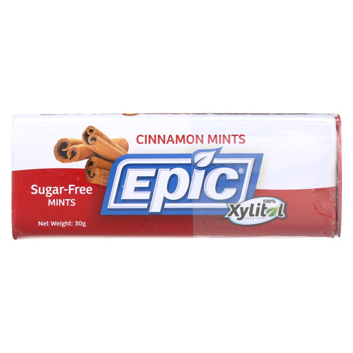 Epic Dental - Xylitol Mints - Cinnamon Xylitol Tin - 60 Ct - Case Of 10