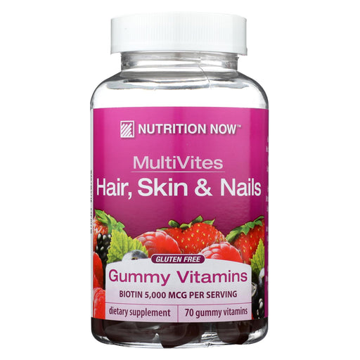 Nutrition Now Multivite - Hair Skin - Gummy - 70 Count