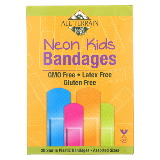 All Terrain - Bandages - Neon Kids - Assorted - 20 Count