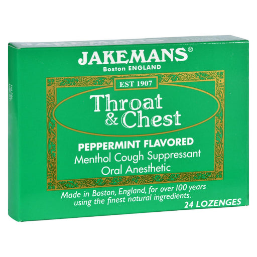 Jakemans Lozenge - Throat And Chest - Peppermint - 24 Count - 1 Case