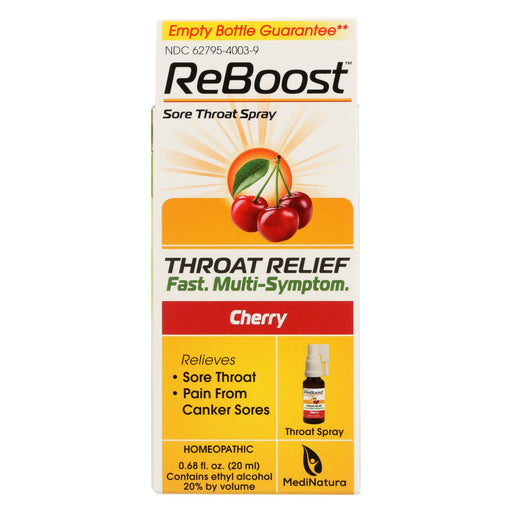 Reboost Throat Relief Spray - .68 Oz