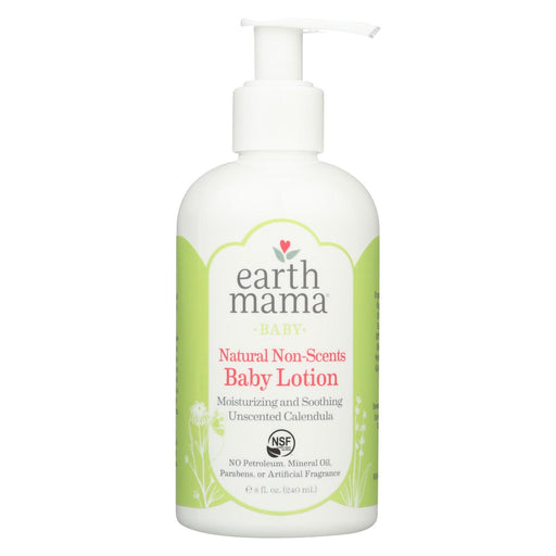 Earth Mama - Baby Lotion - Natural Non-scents - Fragrance Free - 8 Oz