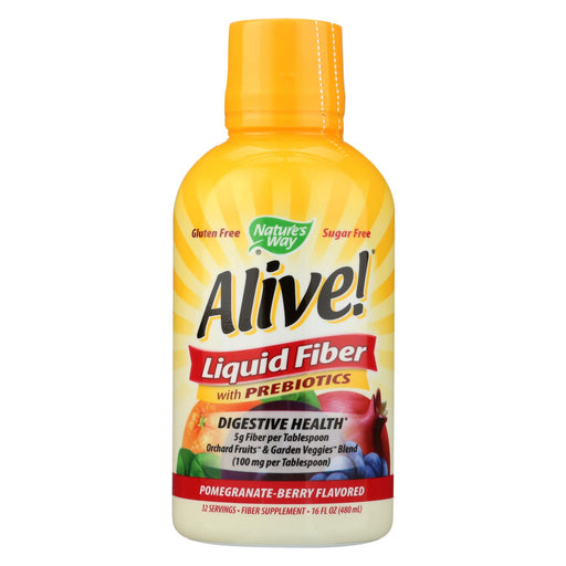 Nature's Way - Alive! Liquid Fiber With Probiotics - Pomegranate Berry - 16 Fl Oz.