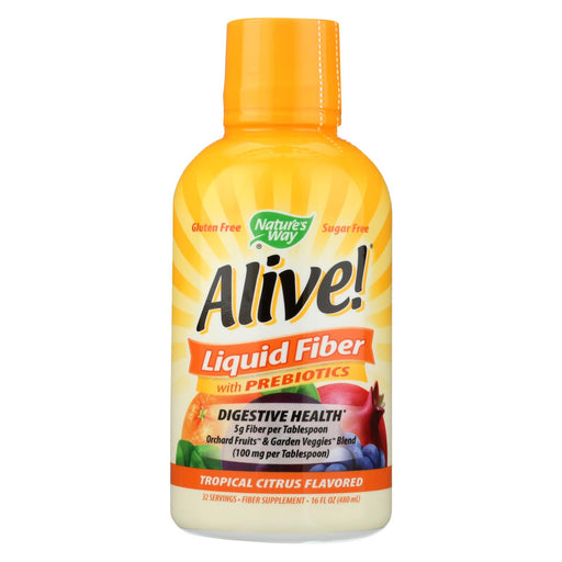 Nature's Way - Alive! Liquid Fiber With Probiotics - Tropical Citrus - 16 Fl Oz.