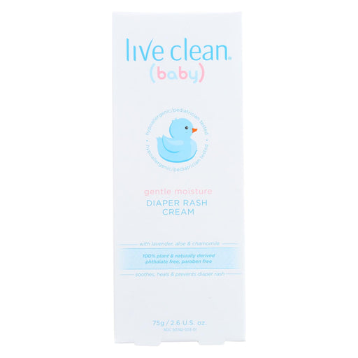 Live Clean Cream - Diaper Rash - Gentle - 2.6 Oz