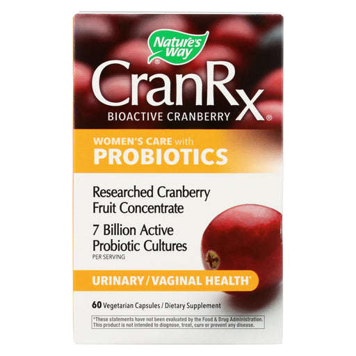 Nature's Way - Cranberry Rx With Probiotics - 60 Veg Capsules
