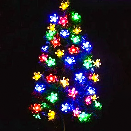 Solar LED Flower String Lights for Holiday,Christmas,Patio,Party,Wedding and Home Decorations