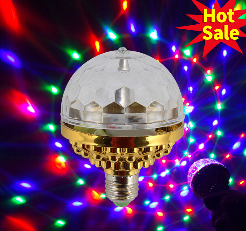 3 X LED DISCO BALL ROTATING SPINNING PARTY LAMP LIGHT BULB PARTY WEDDING NEW