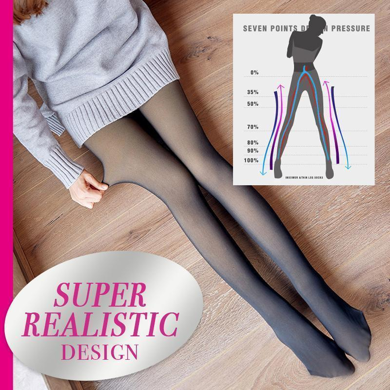 Flawless Legs For All Women--Super Stretchy Warm Fleece Pantyhose