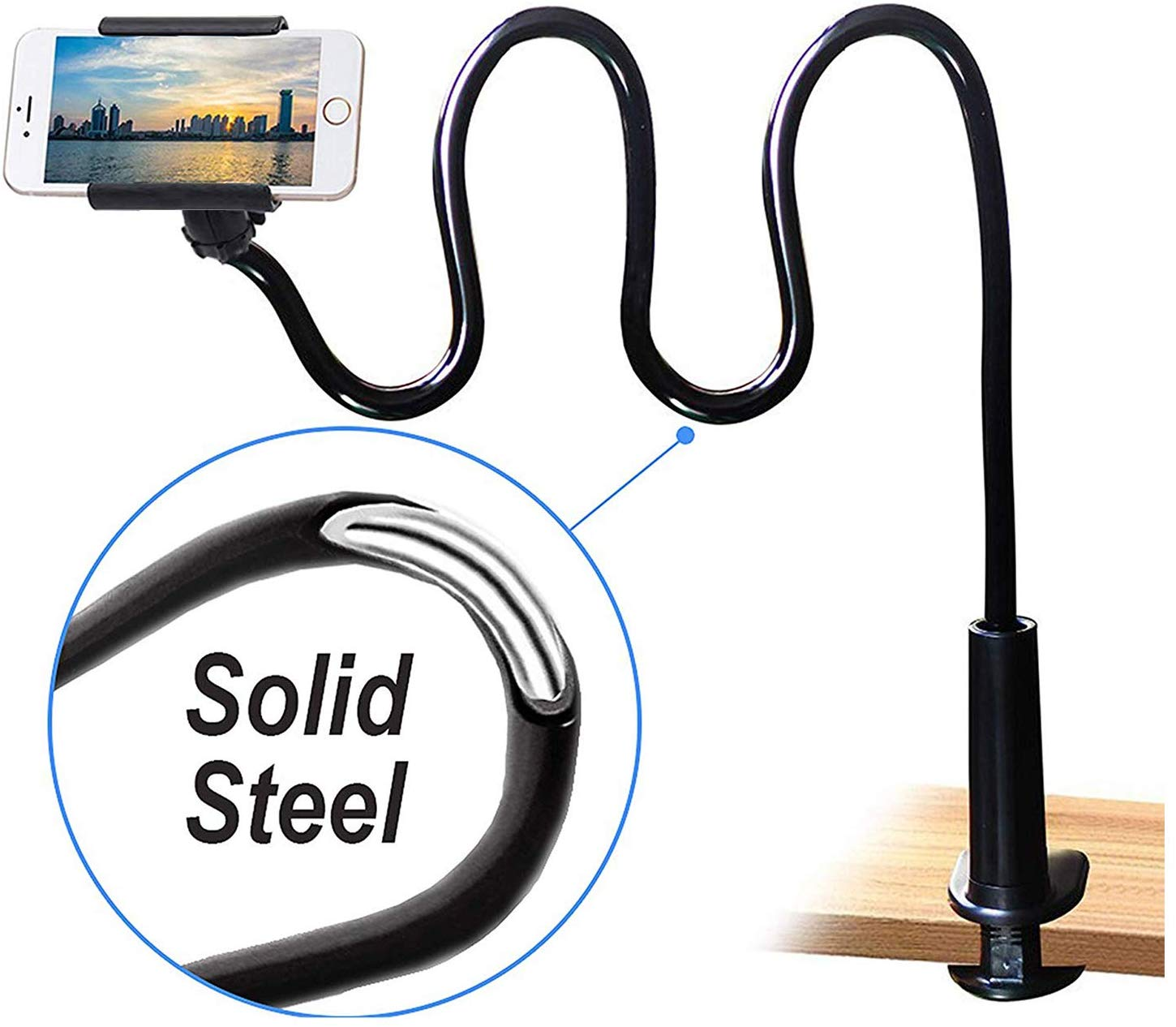 Universal 360 Degree Flexible Lazy Mount Tablet Phone Holder
