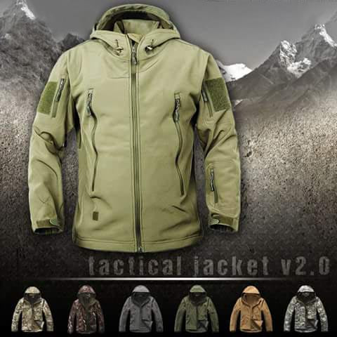 Military Winter Jacket Waterproof Windproof Soft Shell Coats