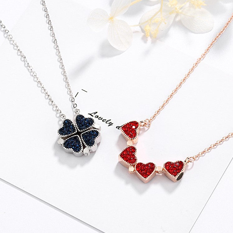 (Buy 1 Get 1 FREE Today!) Women's Favorite Full Diamond Clover Necklace