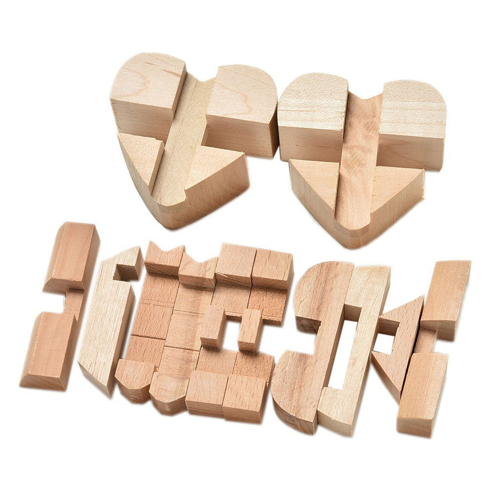 Burr 3D Puzzles Wooden Puzzle Game Toy Intellectual Educational For Kids Adults