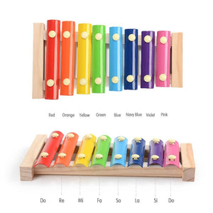 Wooden Music Instrument Montessori Children 'S Educational Early Wooden Xylophone Toys Hand Knocking Piano Gift for child