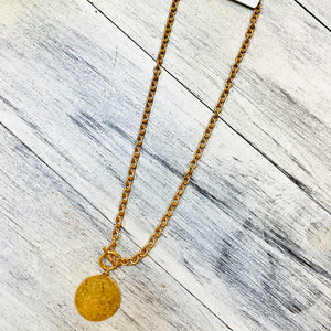 Worn Gold Medallion Chain