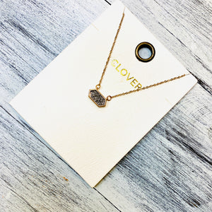 Gold Bar Necklace- Mini