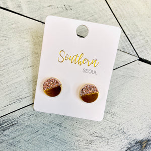 Gold & Rose Gold Stud Earrings