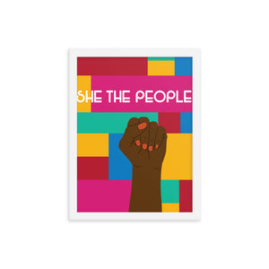 She The People Framed Print