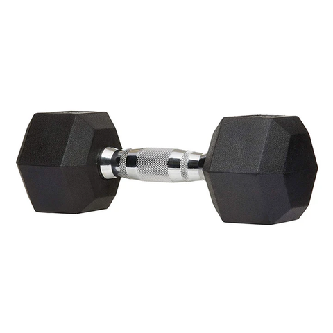 Warrior Strength Rubber Hex Dumbbells