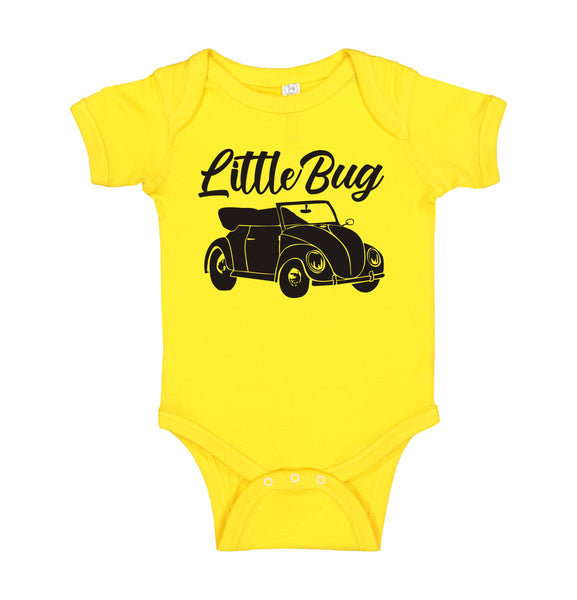 "INFANT ONESIE FOR A SPECIAL BABY... PICTURE OF VW BEETLE ""LITTLE BUG"""