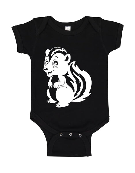 "INFANT ONESIE FOR A SPECIAL BABY.""LITTLE SKUNK!"""