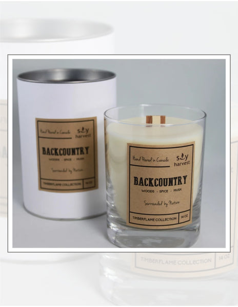 Soy Harvest Candles Timber Flame Collection Back Country