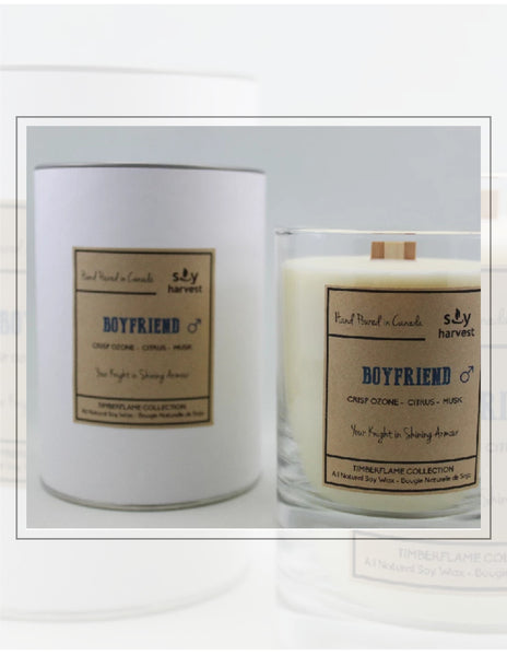 Soy Harvest Candles Timber Flame Collection Boyfriend Candle